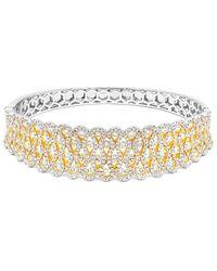 Diana M. Jewels . Fine Jewellery 18k 7.50 Ct. Tw. Diamond Bangle - Metallic
