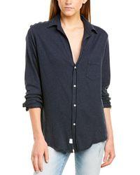 Frank & Eileen Knit Button-down Shirt - Blue