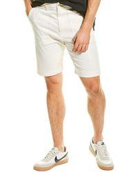 Vince Utility Wool-blend Shorts - Natural