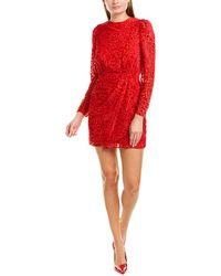 The Kooples Artichoke Velvet Mini Dress - Red