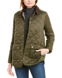 Barbour Naomi Quilted Coat - Green
