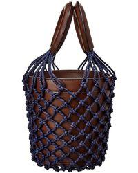 STAUD Moreau Leather Bucket Bag - Brown