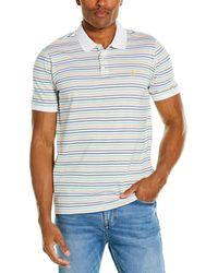 Original Penguin Pop Fine Stripe Knit Polo Shirt - White