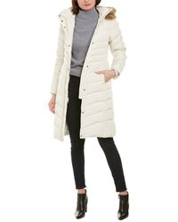 Brooks Brothers Quilted Long Down Coat - White