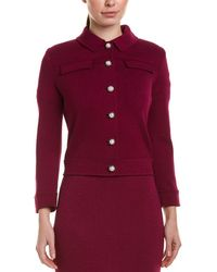 St. John Wool-blend Jacket - Pink