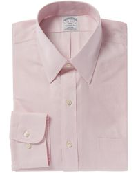 Brooks Brothers Regent Fit Dress Shirt - Pink