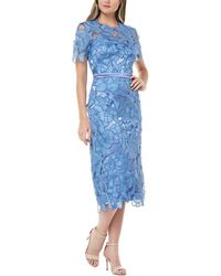 JS Collections Midi Dress - Blue