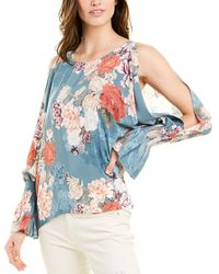 Johnny Was Silk Blouse - Blue