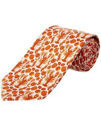 Cole Haan - Orange Clam Bake Silk-blend Tie - Lyst