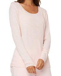 NYDJ Ribbed Scoop Neck T-shirt - Pink