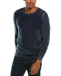 Autumn Cashmere Inked Cashmere Crewneck Sweater - Blue