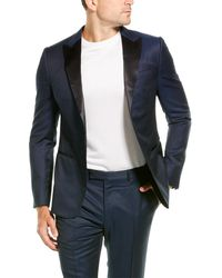 Z Zegna 2pc Wool & Mohair-blend Suit With Flat Pant - Blue