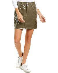 Rag & Bone Hayden Faux Leather Skirt - Green