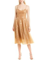 Dress the Population Edith A-line Dress - Yellow