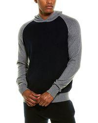 Phenix Tonal Pullover Cashmere-blend Hoodie - Blue