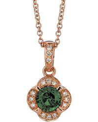Le Vian - ? 14k Rose Gold 0.46 Ct. Tw. Diamond & Chrome Diopside Necklace - Lyst