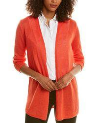NIC+ZOE Long Lengths Linen-blend Cardigan - Red
