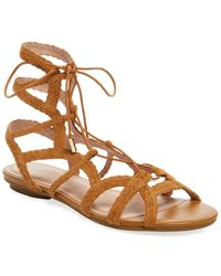 Joie Flynn Braided Lace-up Sandal - Brown