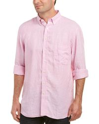 Mine - Apparel Inc Washed Linen Woven Shirt - Lyst