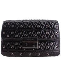 Michael Kors Michael Sloan Leather Shoulder Bag - Black
