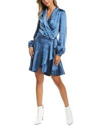 Lucy Paris Sienna Wrap Dress - Blue