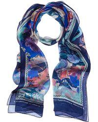 Ferragamo - Foliage Print Silk Stole - Lyst