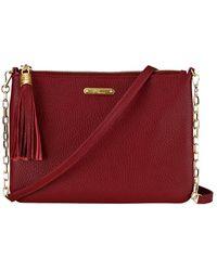 Gigi New York Chelsea Leather Crossbody - Red