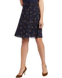 Draper James Floral Swiss Dot A-line Skirt - Blue