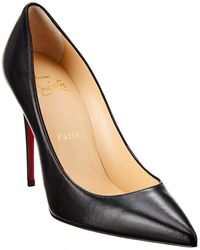 Christian Louboutin So Kate Patent Red Sole Court Shoes - Black
