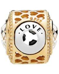 PANDORA Jewellery Essence Colllection 14k & Silver Cz Love Charm - Metallic