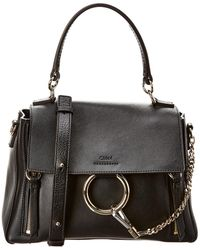 Chloé Faye Day Small Leather Shoulder Bag - Black