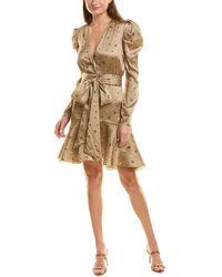 Silvia Tcherassi Jane Silk-blend Mini Dress - Brown