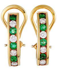 Heritage Tiffany & Co. - Tiffany & Co. 18k 0.98 Ct. Tw. Diamond & Emerald Earrings - Lyst