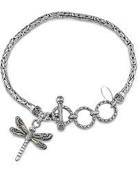 Samuel B. 18k & Silver Dragonfly Bracelet - Metallic