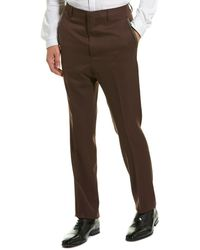 Lanvin Straight Wool Pant - Brown