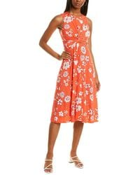 Vince Camuto Twisted Midi Dress - Red
