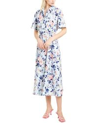 French Connection Cerisier Crepe Shirtdress - Blue