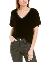 Nation Ltd Ellis Silk-blend Top - Black