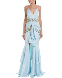 PATBO Embellished Gown - Blue
