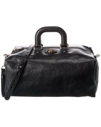 Gucci Soft Leather Duffel Bag - Black