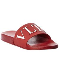 Valentino Slide Sandal - Red