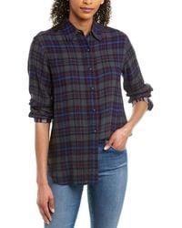 Rag & Bone Billie Wool-blend Shirt - Gray