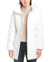 Cole Haan Signature Quilted Down Jacket - White