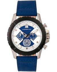 Morphic M57 Series Chronograph Silver Dial Mens Watch - Blue