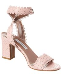 Tabitha Simmons Leticia Perforated Leather Sandal - Pink