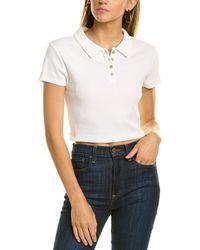 BCBGeneration Cropped Polo Shirt - White