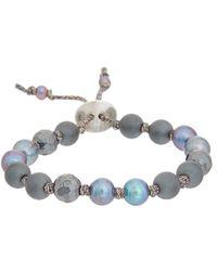 Chan Luu - Silver Gemstone & 6mm Pearl Bracelet - Lyst