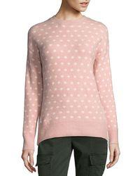 John + Jenn Dotted Sweater - Pink