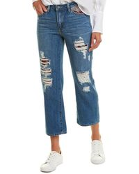 Vince Camuto Tapestry Patchwork Straight Leg - Blue