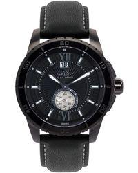 Balmer Men's Leather Watch - Black